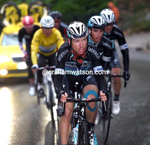 Tony Martin paces Michal Kwiatkowski on stage six of the 2015 Paris-Nice