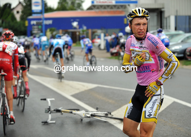 TONY MARTIN HAS CRASHED ON STAGE SEVEN OF THE 2009 TOUR OF SWITZERLAND