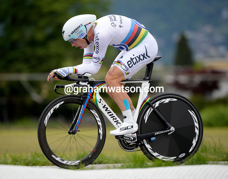 Tony Martin in the Prologue of the 2014 Tour de Roamndie