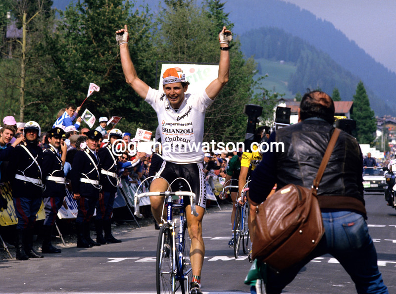 Tony Rominger wins a stage in the 1988 Giro d'Italia