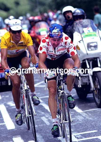 Tony Rominger on a stage of the 1993 Tour de France