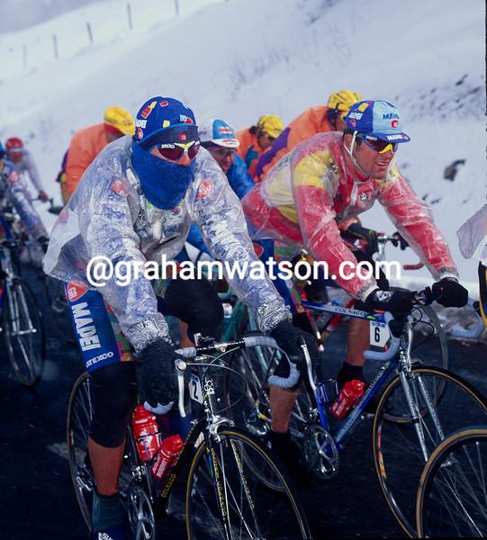 Tony Rominger and Abraham Olano in the 1995 Paris-Nice