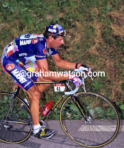 Tony Rominger on a stage of the 1995 Tour de France