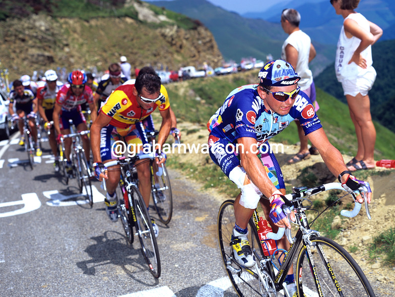 Tony Rominger on a stage of the 1996 Tour de France