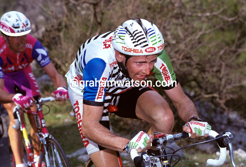 Tony Rominger in the 1991 Paris-Nice