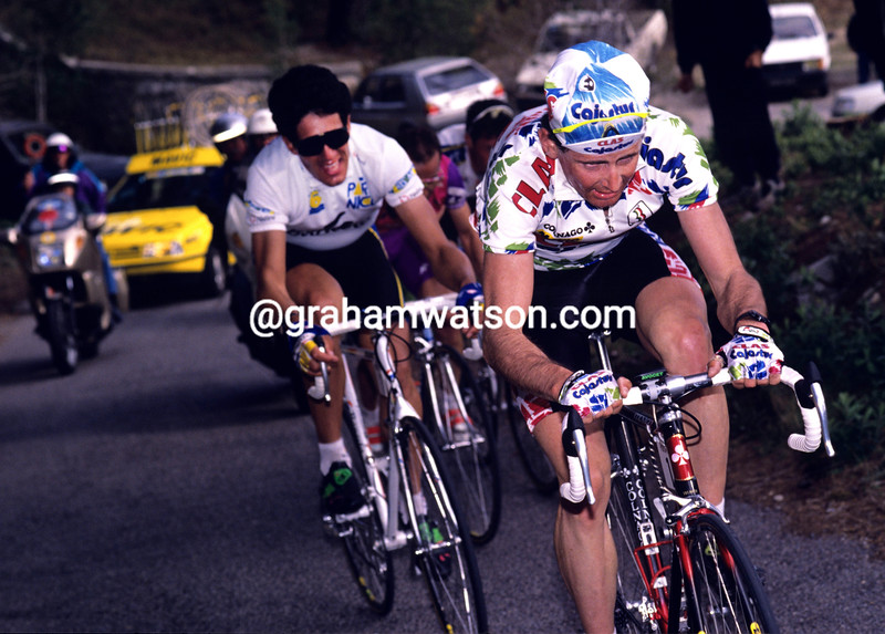 Tony Rominger in the 1992 Paris-Nice
