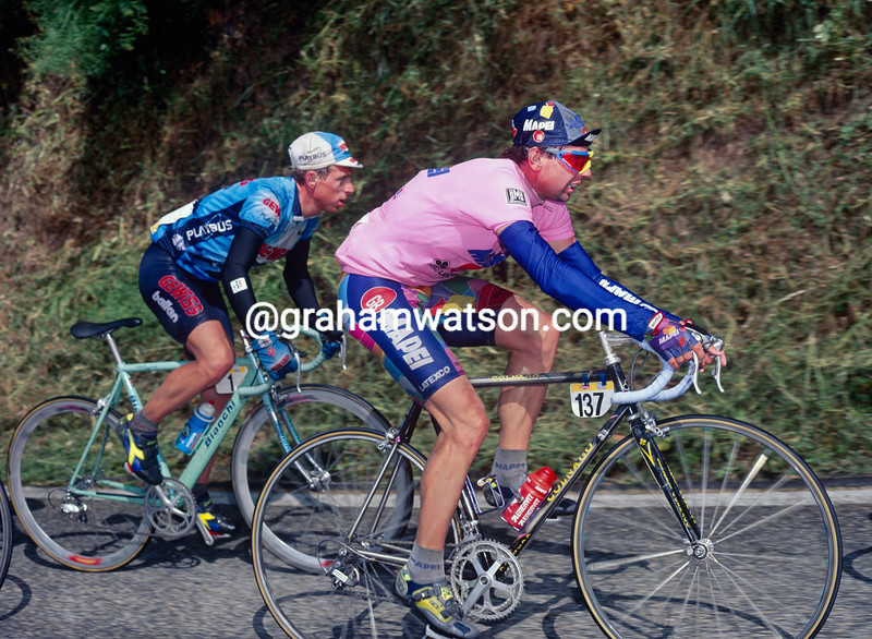 Tony Rominger in the 1995 Giro d'Italia