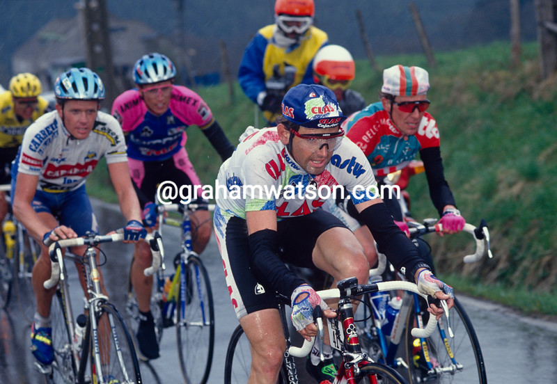 Tony Rominger in the 1993 Liege-Bastogne-Liege