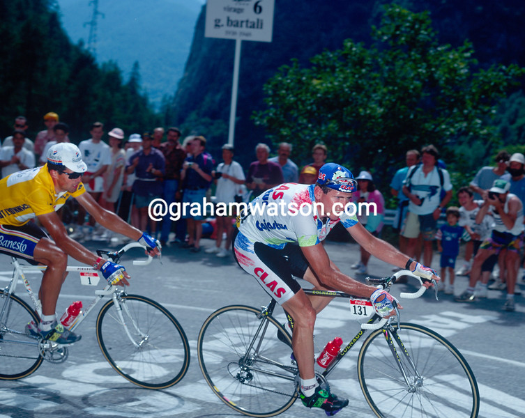 Tony Rominger and Miguel Indurain in the 1993 Tour de France