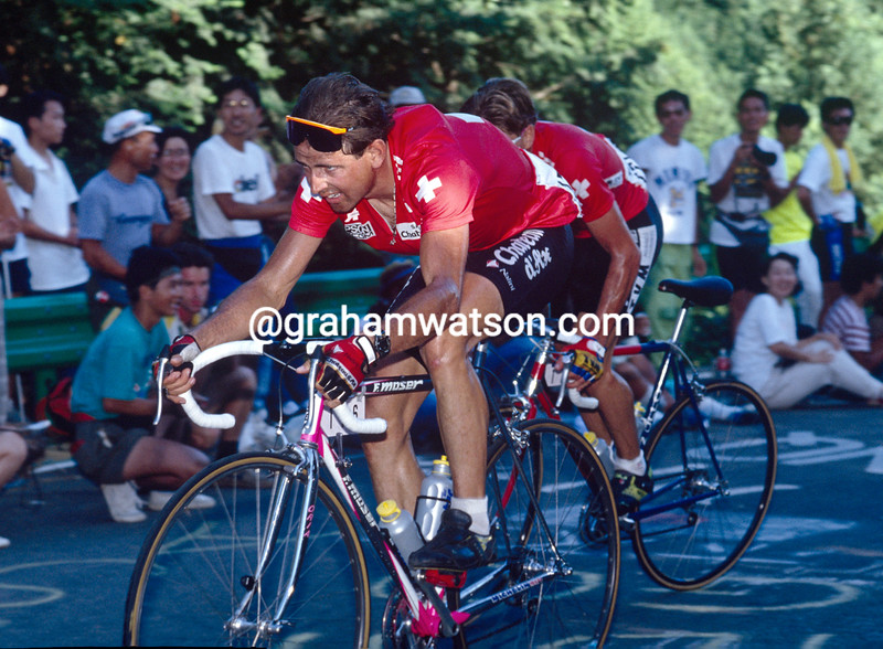 Tony Rominger in the 1990 World Championships
