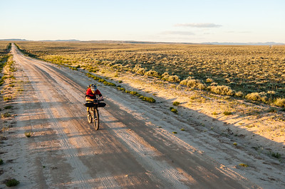 Steve Wilkinson makes his way across the Great Divide Basin