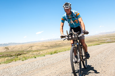 Singlespeedster Chris Plesko climbs towards the Medicine Bow Mtn's on his way to a Tour Divide record.