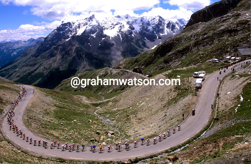 The 2000 Tour de France on the Col du Galibier
