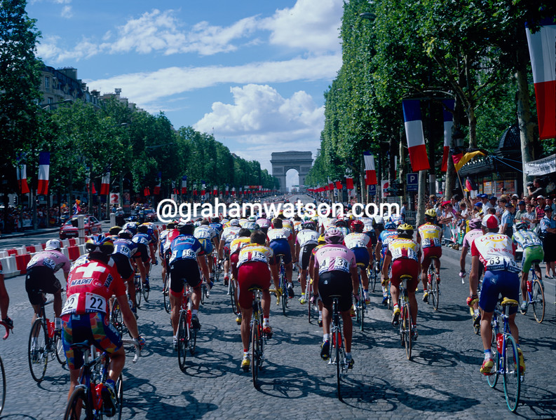 The Tour de France in Paris in 1997
