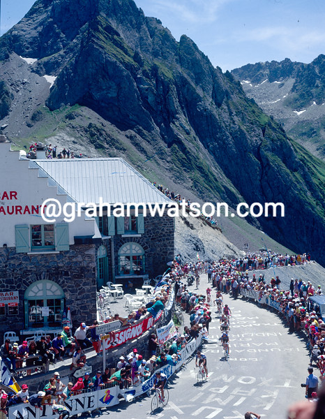 The Tour de France crosses the Col du Tourmalet in 1991