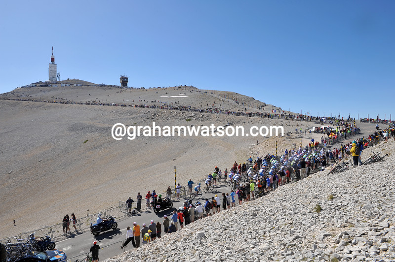 The 2009 Tour de France on Mont Ventoux