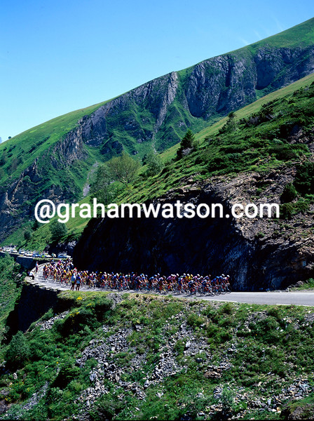 The 1995 Tour de France on the Col d'Aubisque