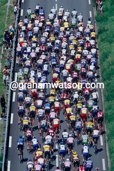 The peloton in the 1997 Tour de France