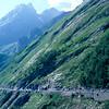 The peloton climbs the Col d'Aubisque in the 1997 Tour de France