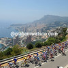 THE PELOTON LEAVES MONACO ON STAGE TWO OF THE 2009 TOUR DE FRANCE