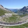THE PELOTON CLIMBS THE COL DU GALIBIER ON STAGE SEVENTEEN OF THE 2008 TOUR DE FRANCE