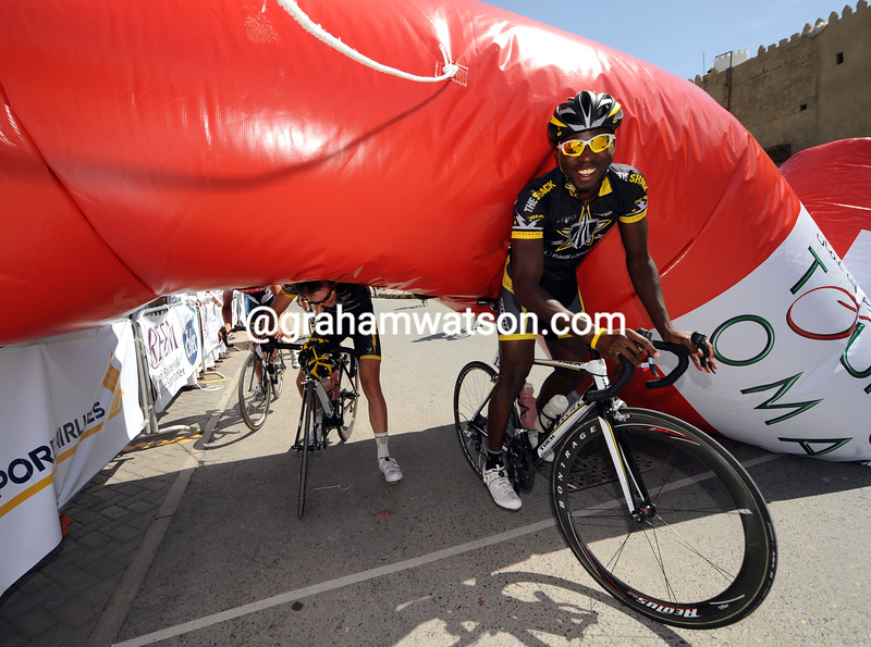Justin Williams sees the funny side of life as a future Pro at Trek-Livestrong...