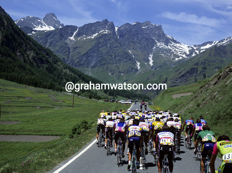 cyclists climb the Sustenpass climb in the Tour de Suisse