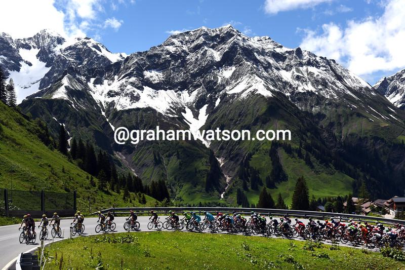 The peloton on Stage 7 of the 2016 Tour de Suisse