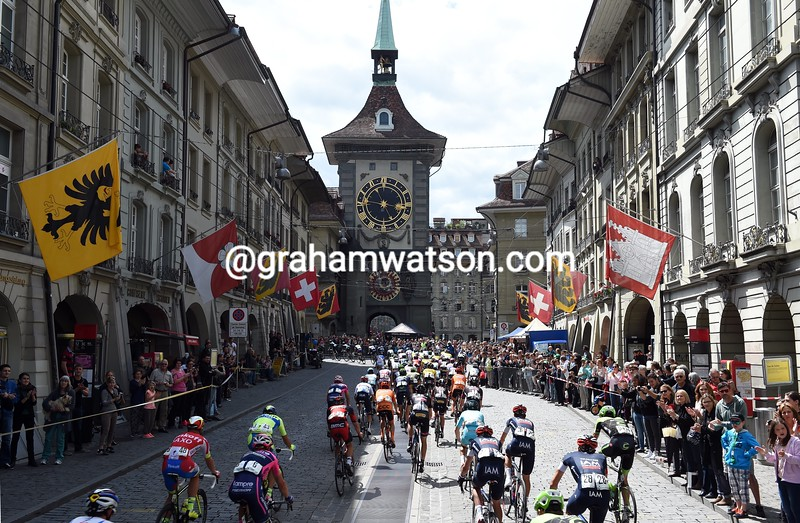 The Tour de Suisse in Bern on stage eight of the 2015 Tour de Suisse