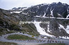 Cyclists climb the Gottard Pass in the Tour of Switzerland
