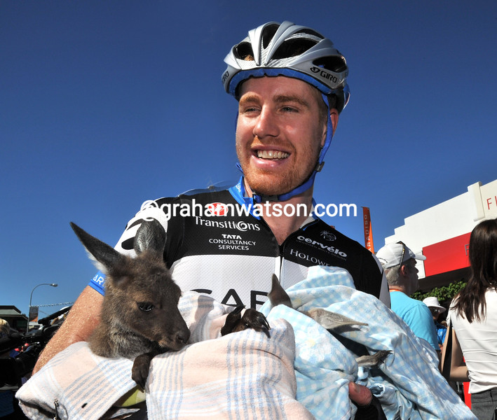 TYLER FARRAR ON STAGE THREE OF THE 2011 TOUR DOWN UNDER