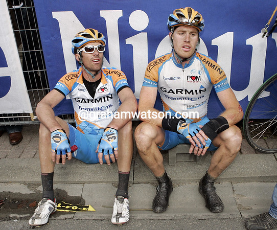 DAVID MILLAR AND TYLER FARRAR AFTER THE TOUR OF FLANDERS