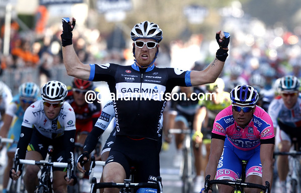 TYLER FARRAR WINS STAGE TWO OF THE 2011 TIRRENO-ADRIATICO