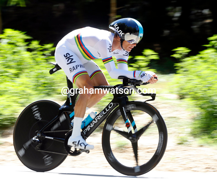 Vasil Kiryienka on stage 13 of the 2016 Tour de France