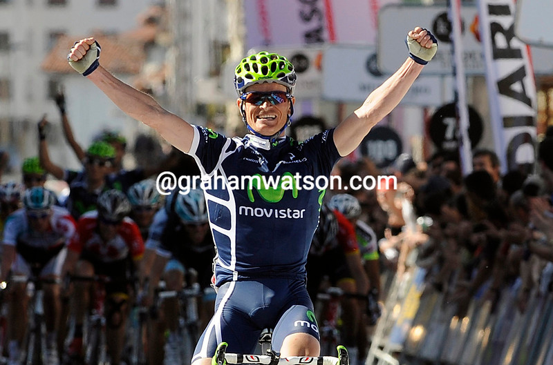 VASILLII KIRYIENKA WINS STAGE TWO OF THE 2011 TOUR OF THE BASQUE COUNTRY