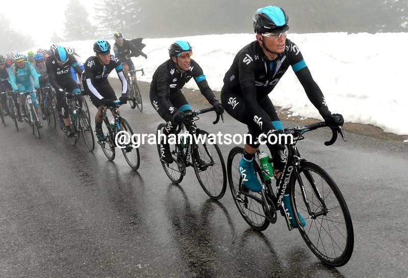 Vasil Kiryienka chases on stage four of the 2013 Tour of Romandy