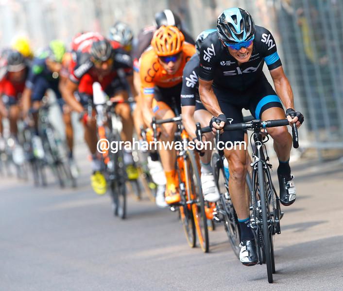 Vasil Kiryienka on stage twenty-one of the 2015 Tour of Italy