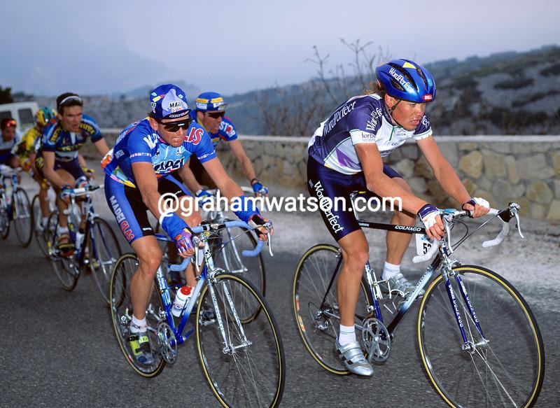 Viatcheslav Ekimov and Tony Rominger in the 1993 Paris-Nice