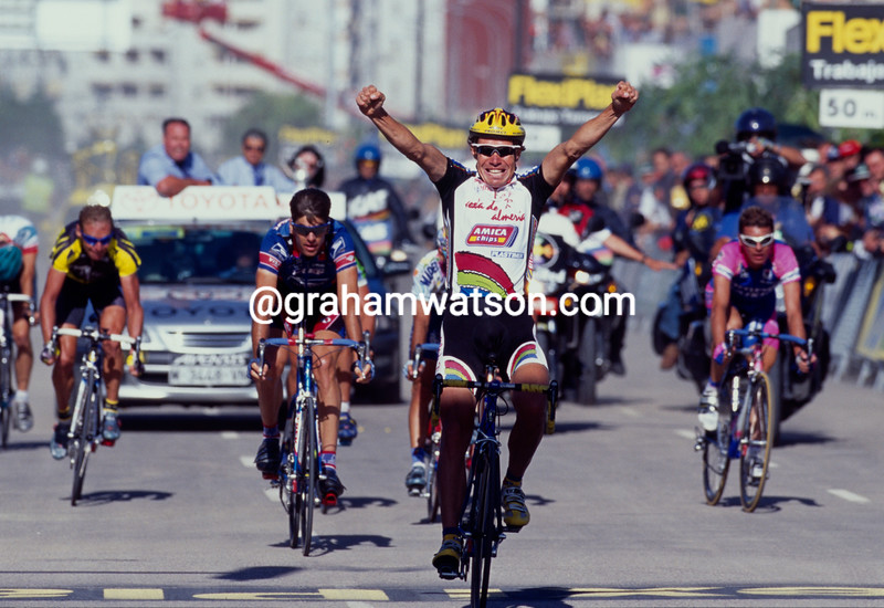 Viatcheslav Ekimov wins a stage during the 1997 Tour of Spain