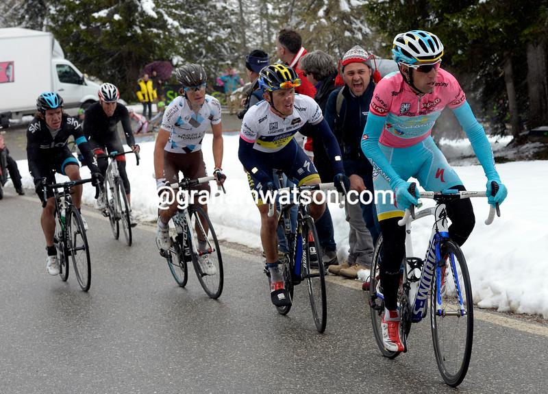 Vincenzo Nibali on stage twenty at the 2013 Giro d'Italia
