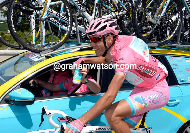 Vincenzo Nibali on stage twenty one at the 2013 Giro d'Italia