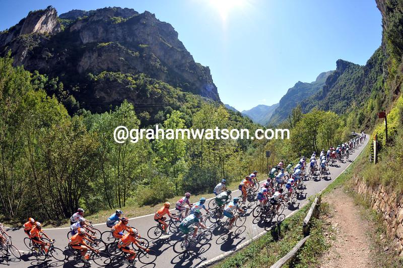 The 2013 Vuelta a España in Asturias
