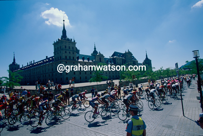 The Vuelta a Espana at El Escorial palace in 1994