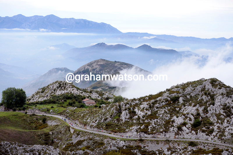 Lagos de Covadonga on stage fifteen of the 2014 Tour of Spain