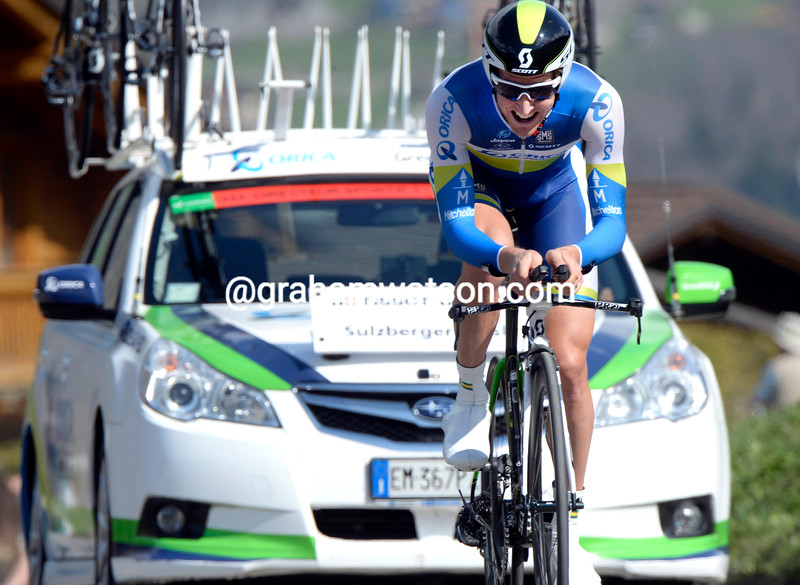 Wesley Sulzberger in the Prologue of the 2013 Tour of Romandy