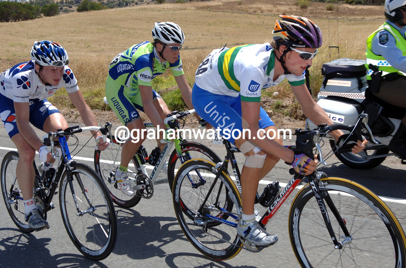 WESLEY SULZBERGER LEADS AN ESCAPE ON STAGE THREE OF THE TOUR DOWN UNDER STARTS FROM UNLEY