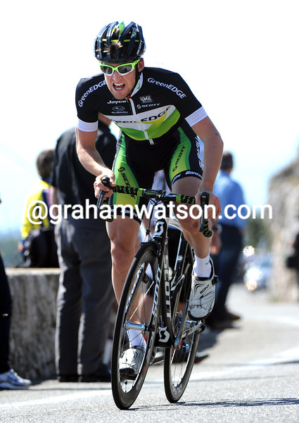 Wesley Sulzberger on stage eight of the 2012 Paris-Nice