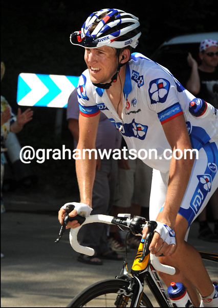 WESLEY SULZBERGER ON STAGE TEN OF THE TOUR DE FRANCE
