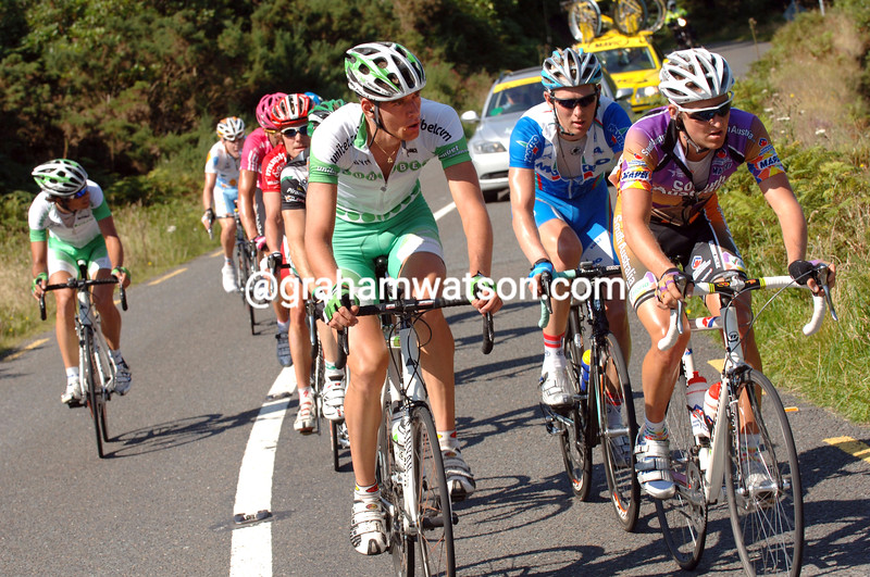 STIJN VANDENBURGH LEADS AN ESCAPE WITH WESLEY SULZBERGER ON STAGE ONE OF THE TOUR OF IRELAND