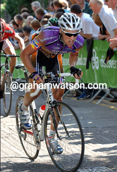 WESLEY SULZBERGER ON ST PATRICK'S HILL ON STAGE ONE OF THE TOUR OF IRELAND